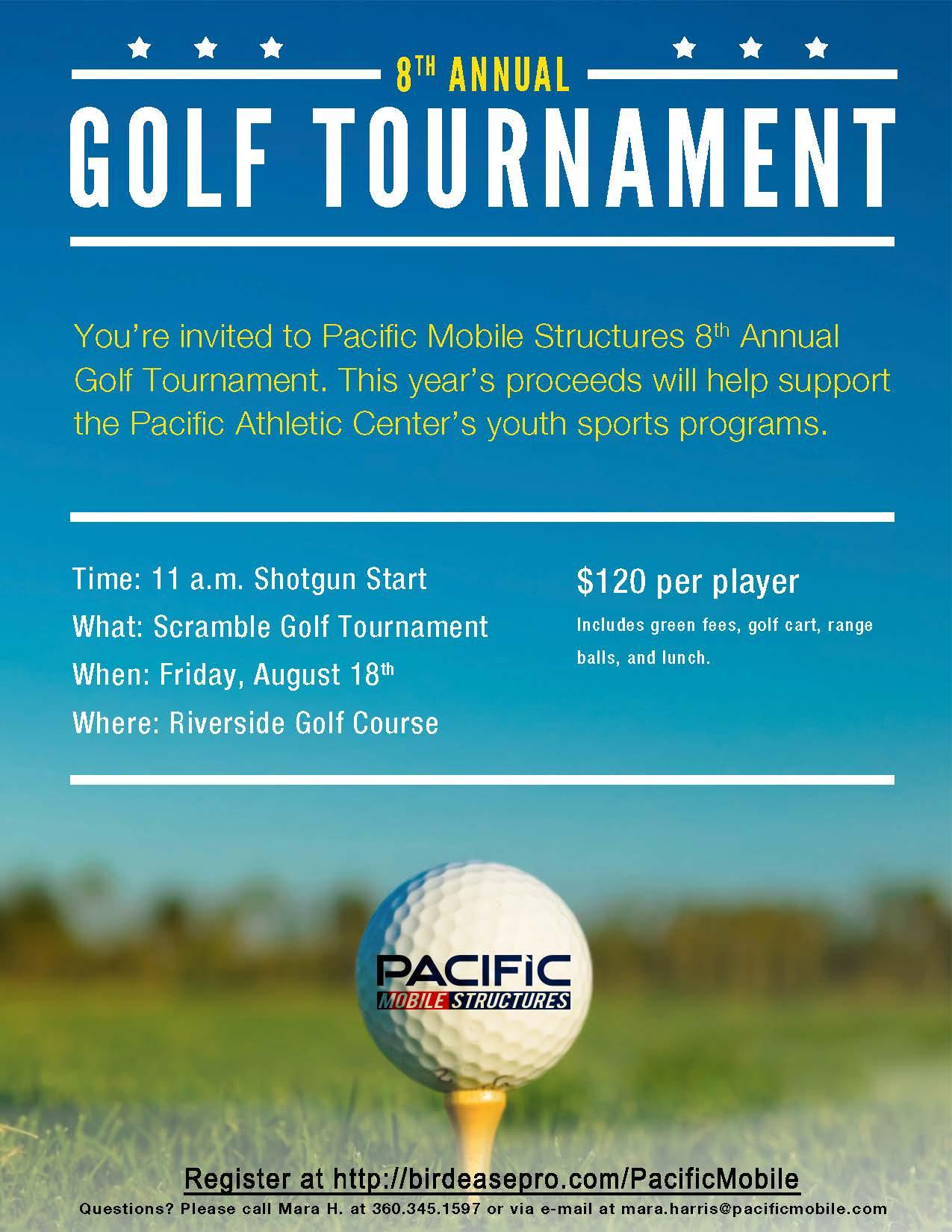 golf tournament invitation flyer free template publisher